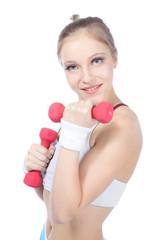 beautiful woman  in fitness