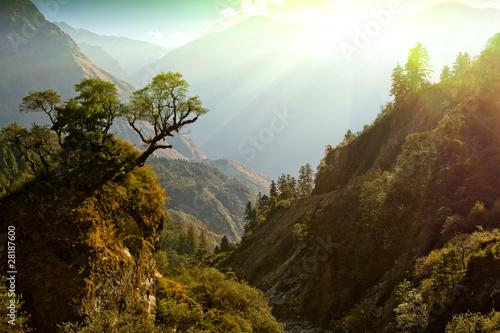Fotobehang Nepal enchanted mountain landscape, Nepal