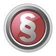 "Red 3D Style Button ""Legal Symbol"""