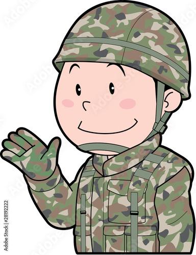 Plexiglas Militair 自衛官
