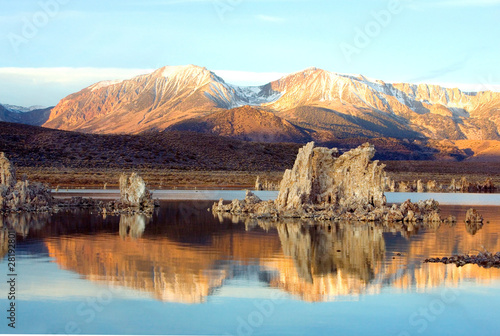 Mountain with Blue Sky showing Reflection in a Lake