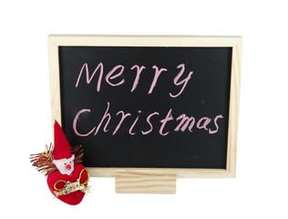 Christmas on a blackboard