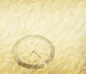 clock with set of abstract painted background .