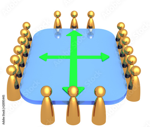 3D rendered teamwork symbol