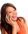 Posing cell phone girl