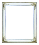 white wood photo image frame isolated on white background