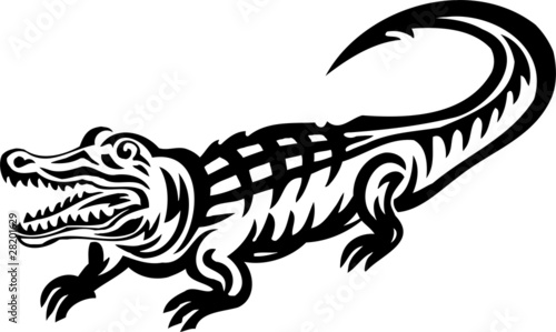 Crocodile.Tribal Animals.