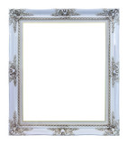 white photo image frame isolated on white background
