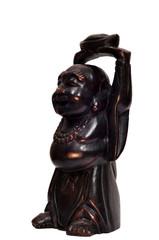 Веселый Будда из дерева