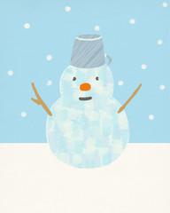 冬の日の雪だるま
