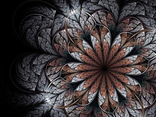 Winter fractal flower