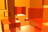 spinning orange cubes NTSC