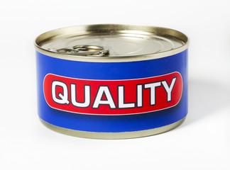 quality mot en boite de conserve