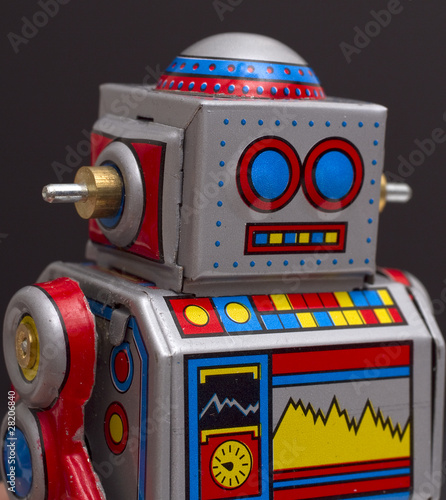Foto op Canvas Robot Head