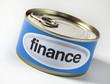 finance mot en boite