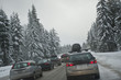 Winter traffic jam