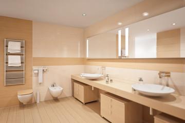 Gentle designed bathroom