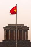 Ho Chi Minh Mausoleum at sunset, Hanoi, Vietnam. poster