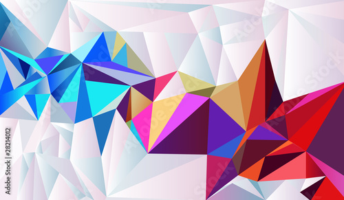 Abstract crystal vector background