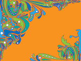 Psychedelic vector background