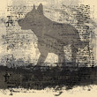 Wolf Grunge Background