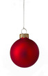 Single red Christmas bauble