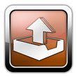 "Bronze Glossy Square Icon ""Upload"""