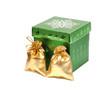 Shiny gift bags and christmas box