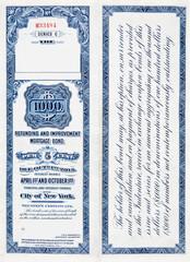 XL $1000 One Thousand Dollar Railroad Bond on White 1900