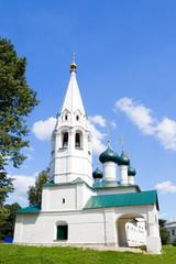 View of old church in Yaroslavl, Russia