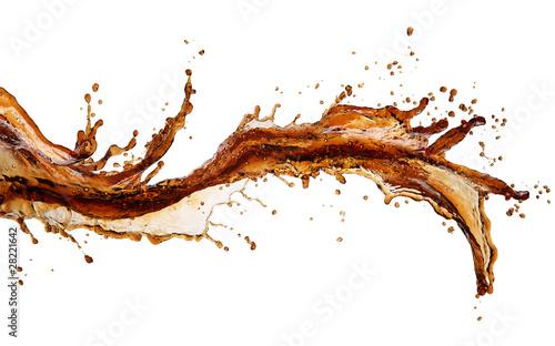 Leinwandbild Motiv Cola splash isolated