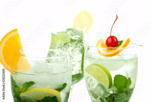 Tropical Mojito Cocktails