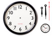 canvas print picture - Blank clock face and hands