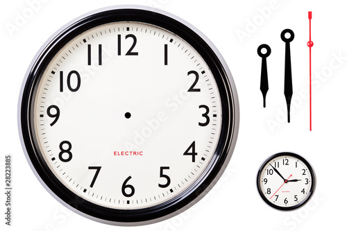 canvas print picture Blank clock face and hands