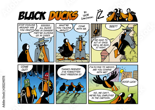 Tuinposter Comics Black Ducks Comic Strip episode 60