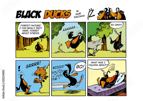 Foto op Plexiglas Comics Black Ducks Comic Strip episode 58