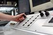 Leitstand einer Druckmaschine