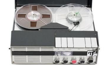 Retro vintage portable tape recorder