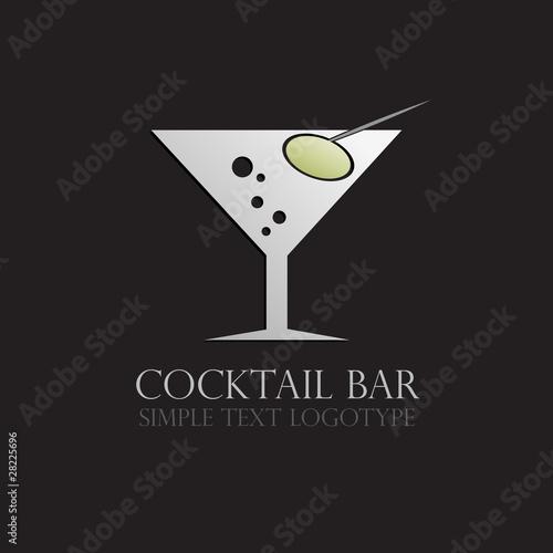 Cocktail Logo Vector Logo Cocktail Bar Vector