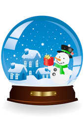 snowman in a sphere