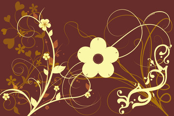 abstract flower background design