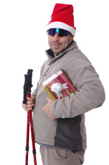 hiker with a gift