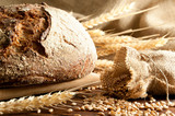 Close-up on traditional bread. Shallow DOF