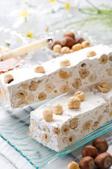 nougat with ingredients-torrone con ingredienti