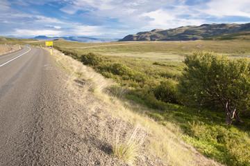 Asphalt route - Iceland.