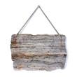 Vecchio cartello di legno appeso