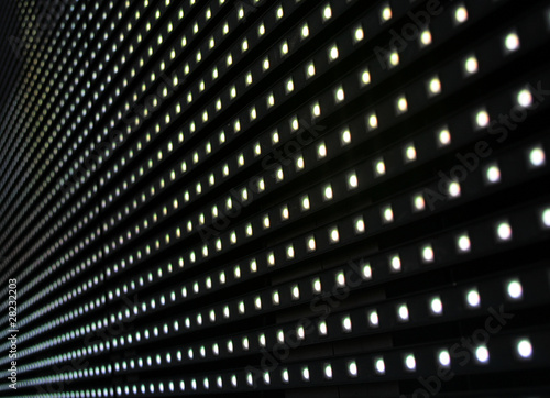 Led diode display panel