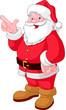 Christmas Santa pointing