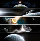 Collection of 5 Banners : Space design