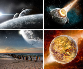 Collection of 4 Space design wallpaper